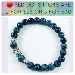 🔴Men or women obsidian gemstone beads and buddha